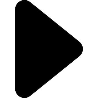 Pijltje naar rechts zwarte driehoekige vorm