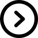 Rechter pijl ronde knop