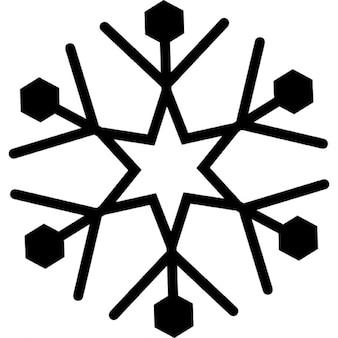sneeuwvlok vorm iconen gratis
