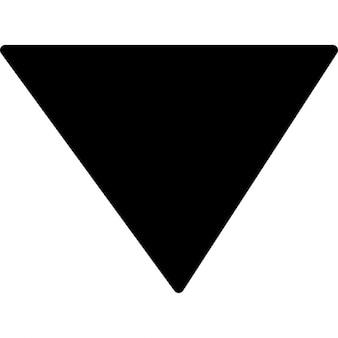 Sort driehoekige symbool