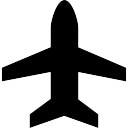 Verticaal vliegtuig vorm symbool