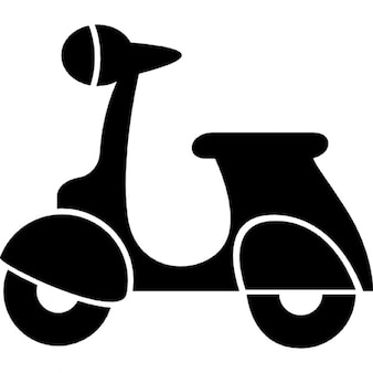 Vespa scooter silhouet