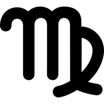 Virgo astrologisch symbool teken