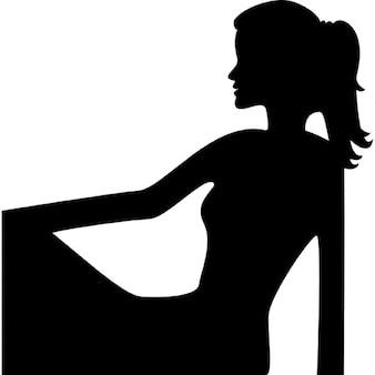 Virgo vrouwelijke silhouet