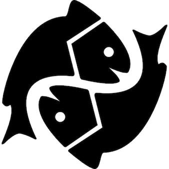 Vissen astrologisch teken symbool