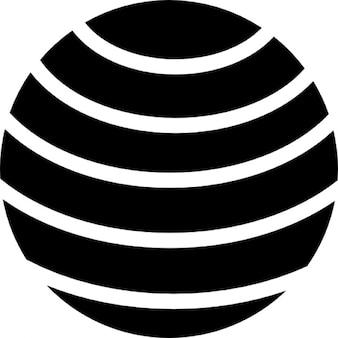 Wereldbol met parallelle lijnen raster