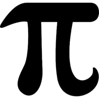 Wiskundige constante pi symbool