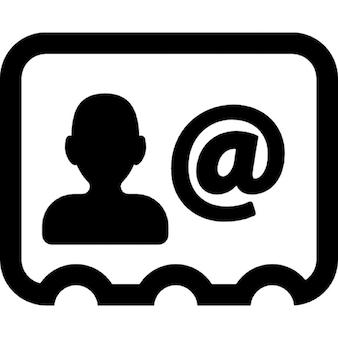 Zakenman kaart met contact email