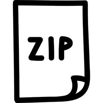 Zip-bestand met de hand getekende symbool-interface
