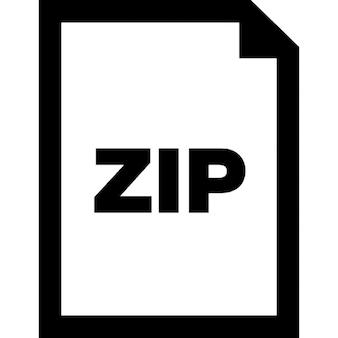 Zip document interface symbool van gecomprimeerde bestanden