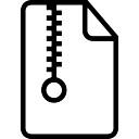 Zip gecomprimeerde bestand geschetst symbool van interface-