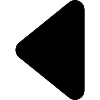 Zwarte driehoekige pijlpunt wijst naar links richting