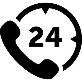 24 horas de serviço de telefonia