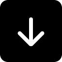 Abaixo símbolo da seta no botão quadrado de preto