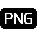 Arquivo de imagem PNG preto arredondado símbolo de interface rectangular
