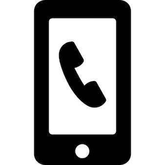 Auricular na tela do telefone