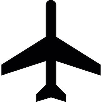 Avião comercial vista inferior