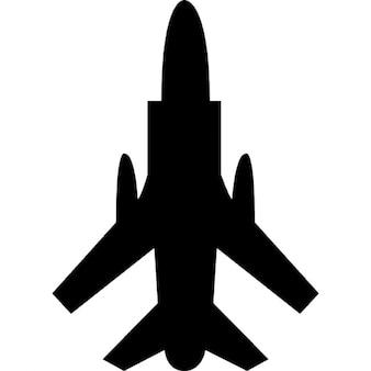 Avião do exército vista inferior
