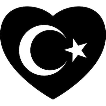 Bandeira do coração de peru