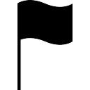 Bandeira símbolo ferramenta retangular preta em um poste