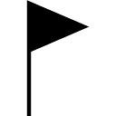 Bandeira símbolo ferramenta triangular preto