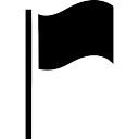 Bandeira símbolo preto