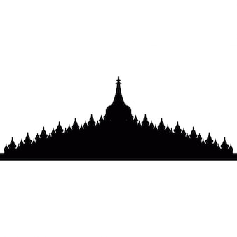 Borobudur em Java, Indonésia