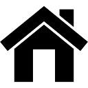 Botão de interface inicial símbolo