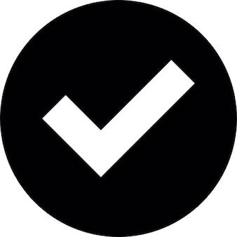 Botão de verificação negrito