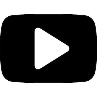 Botão play youtube