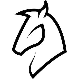 Cabeça esboço cavalo