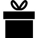 Caixa de presente com uma fita no topo