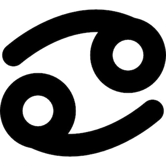 Câncer do zodíaco símbolo