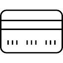 Cartão de crédito ferramenta delineado símbolo comercial