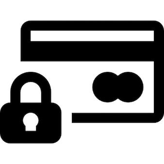 Cartão de crédito símbolo de cadeado