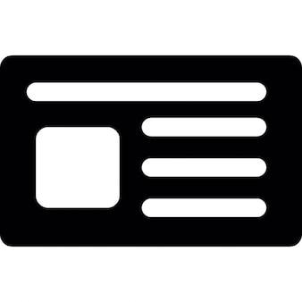 Cartão pessoal de preto para os negócios