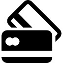Cartões de crédito preto e branco