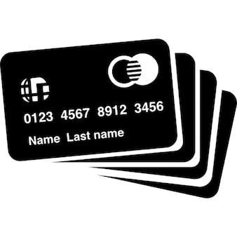 Cartões de crédito silhueta
