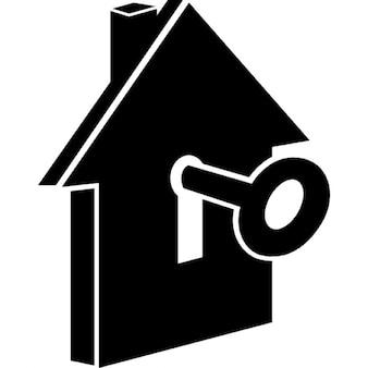 Casa com buraco da fechadura