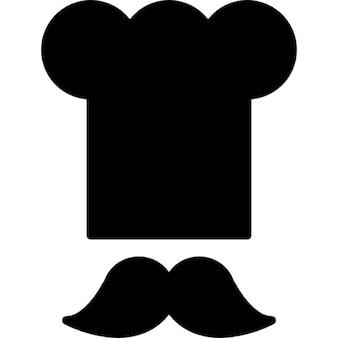 Chefe toque e bigode