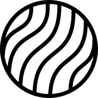 Círculo com padrão de curvas