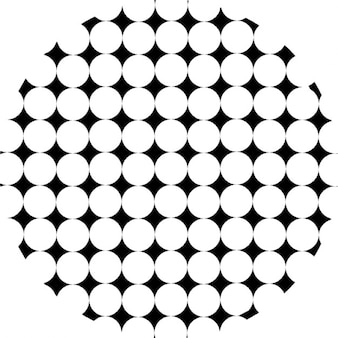 Círculo com padrão de losangos