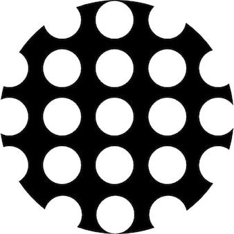 Círculo com pontos