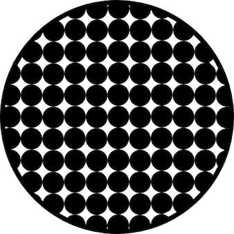 Círculo com teste padrão de pontos