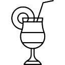 Cocktail com palha