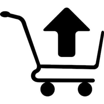 Compras símbolo carrinho de remoção do item