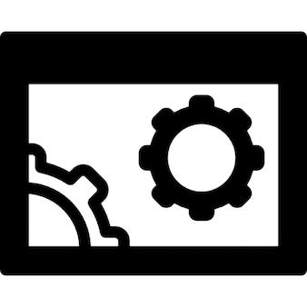 Configurações do navegador símbolo circular