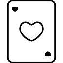 Coração esboço carta de baralho