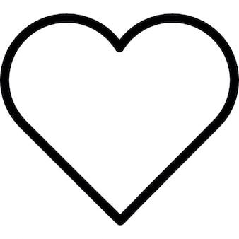Coração forma de contorno