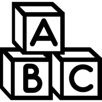 Cubos de ABC do bebê